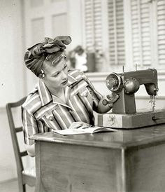 Lucy with her sewing machine...this is an awesome photo!!!