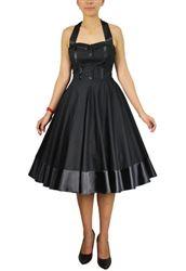 $96 Vintage Full Skirt Pin Up Dress! Vintage Plus Size Dresses. Plus 12W-28W!