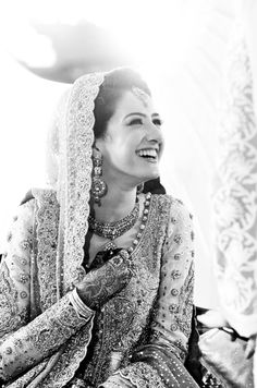 pakistani bridal wear - long sleeves - everyone loves a happy bride! :)