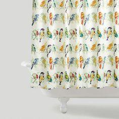 New birdie shower curtain