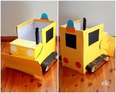 bulldozer -Cardboard box