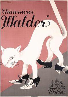 Walder Shoe Advertising Poster 1930s