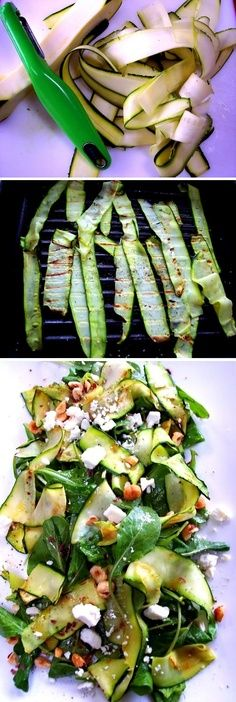 Delicious grilled #zucchini #salad. Click here for the #recipe