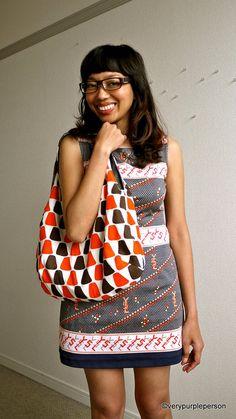 craft, purple, diy bags, bag tutorials, revers bag