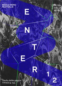 "Rachel Libeskind. Poster for ""ENTER: National Media Arts Festival of Lithuania"" May 10, 2014."