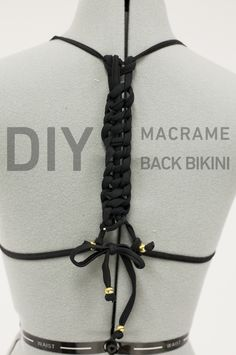 DIY macrame bikini top. http://blog.swell.com/diy-macrame-bikini-top