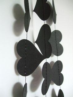 Black Heart Anti Valentines Day or Goth Paper by KathleenBateman, $10.00