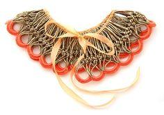 Gold lame crochet collar