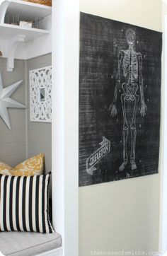 Large Chalkboard Printables for Halloween - Caravan Shoppe - thehouseofsmiths.com