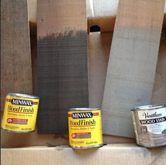 mix the middle and the one on the right for perfect gray stain
