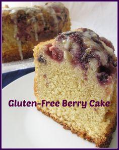 Gluten-free berry cake. Berry, berry delicious! #glutenfree