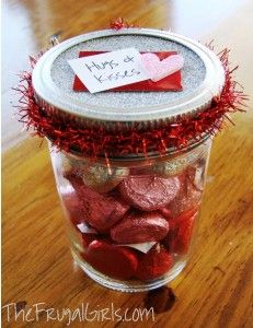 Valentines Day Kisses in a Jar {teacher gift idea}