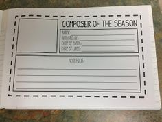 Music Notebook ideas- remember to try this!