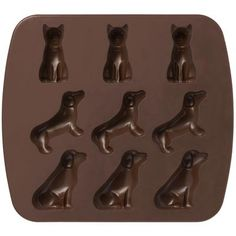 MUJI SILICON TRAY - DOG  Silicon Cooking Tools for baked goods, chocolates or ice cubes!