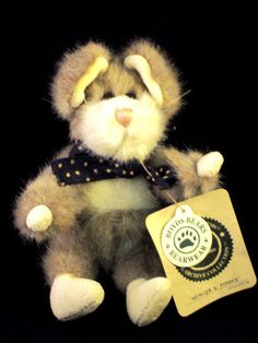 """Retired Boyds Bears """"Munster Q Fondue"""" Mouse With Tags - SOLD!"""