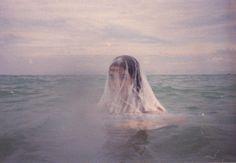 siren, the ocean, film photography, fairi, sea, veil, blog, carlo pereira, birds