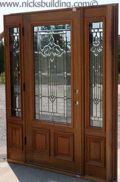 Front door on pinterest wood doors entry doors and for Single front doors with glass