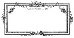 Vintage Clip Art - Beautiful French Frames