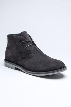 Charcoal desert boot
