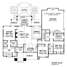 First Floor Plan of The Baskerville - House Plan Number 1312