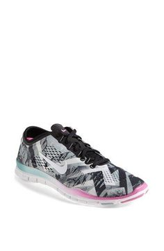 Nike 'Free 5.0 TR Fit 4' Print Training Shoe (Women) available at #Nordstrom