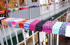 yarn bomb- girly wants to do this to our deck