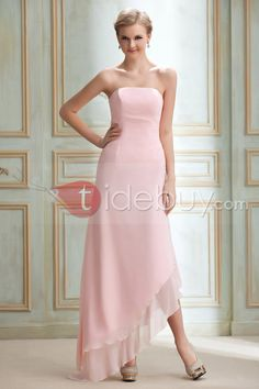 Elegant A-Line/Princess Strapless Floor-Length Yana's Bridesmaid Dress