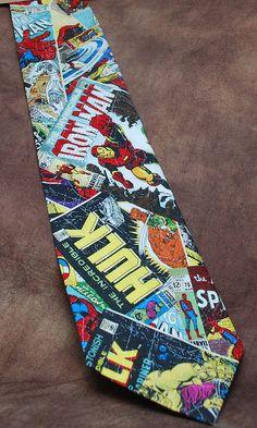 Marvel Comic-Book Covers Tie ($33)