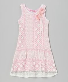 Take a look at this Pink Princess Lace Dress - Toddler & Girls on zulily today!