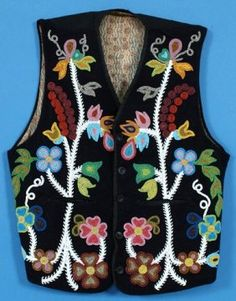 19TH C. Ojibway Beaded Vest with Floral Design (recently sold at auction, reportedly $20,000)