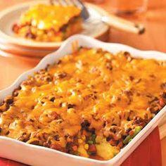 Polenta Chili Casserole; no cheese