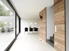 White, Wood, & Dark framed glass (Coast Office Architecture)