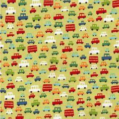 Michael Miller House Designer - Kids - Toot Toot in Lime