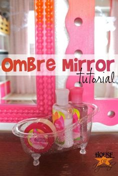 Ombre Painted Mirrors Tutorial @ houseofhepworths.com. Learn how to paint a two-toned ombre effect on any item including #frames #mirrors #homedecor etc.  If you love this, please REPIN it!  @ House of Hepworths #ombre