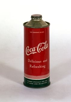 Steel prototype Coca-Cola can from the 1940s