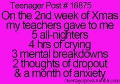 Good way to explain finals week