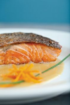 Salmon with Orange Butter Sauce