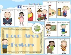 FREE Room Area Posters - Classroom Resource - PDF file.13 printable pages, plus cover and ideas page included. Designed by Clever Classroom....