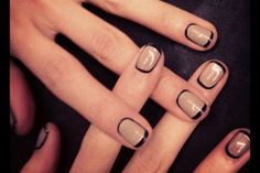 How to Re-create M.A.C.'s Latest Graphic Nails via @The Cut