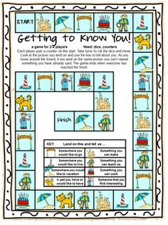 Back to School Board Games FREEBIE is a collection of 3 printable Back to School Board Game by Games 4 Learning. These games are designed as 'getting to know you' games.