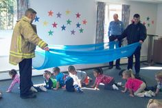 Preschoolers Learn Fire Safety: Learning about matches, candles, and lighters, the most common fire starting items, is vital to fire prevention.