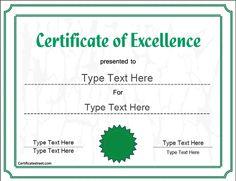 Free Blank Certificate Templates  CertificateStreetcom
