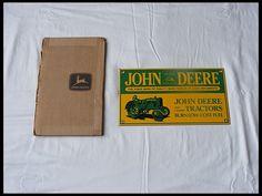 John Deere Porcelain Sign 8x14 for sale by Mecum Auction