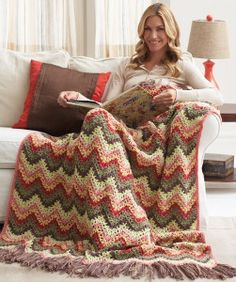 This Lazy Day Ripple Pattern would be perfect for the fall or spring.