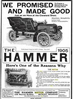 1905 Hammer Automobile Advertisement