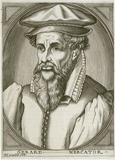 """GERARDUS MERCATOR: Besides drafting his famous map projection, Gerardus Mercator (1512–1594), a remarkable Flemish cartographer, was the first to coin the word """"atlas"""" as a term for a collection of maps. He was additionally highly skilled in mathematics, engraving, calligraphy, and making scientific instruments. ~Repinned Via HE Brinkley"""
