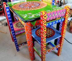 Mesas restauradas on pinterest mesas painted tables and - Sillas restauradas ...