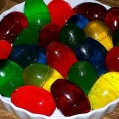 Easter Jello Eggs...LOVE these! My mother made them every year when I was growing up!