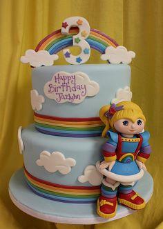 Rainbow Brite Cake brite med, amanda oakleaf, brite rainbow, rainbow cakes, rainbows, rainbow brite birthday, rainbow brite cake, oakleaf cake, bday cake