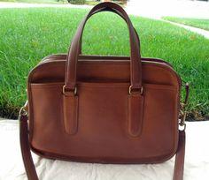 Coach Authentic Vintage British Tan Skinny Flight Bag Made in New York City | eBay
